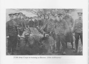 213th Army Corps in training at Buxton
