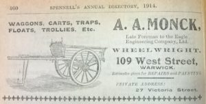 Advertisement from Spennell's Trade Directory 1914